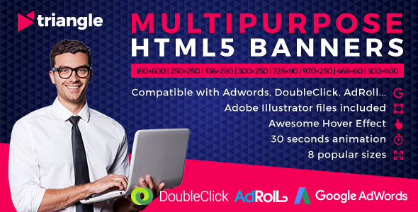Download Triangle - Multipurpose Animated HTML5 Banner Ads (GWD)