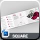 Square Tri-Fold
