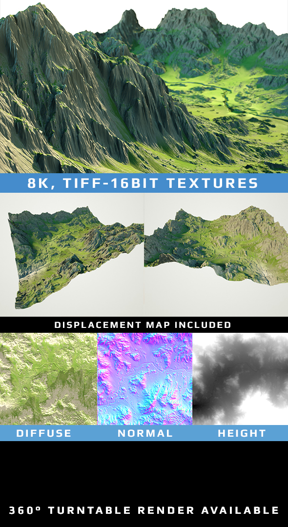 3DOcean Valley Landscape Scenery 8K Textures 20027750