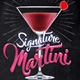 Martini Cocktail Flyer Template