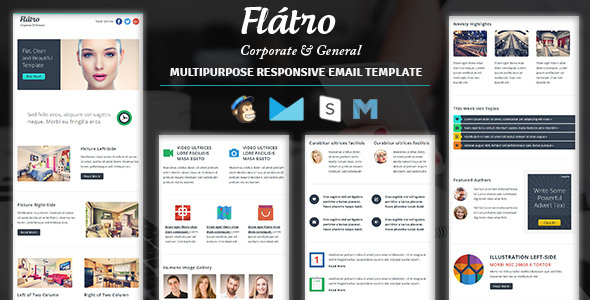 Flatro - Responsive Email Newsletter Templates