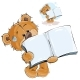 Brown Teddy Bear Showing Book