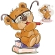 Brown Teddy Bear with Eyeglasses
