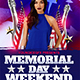 Memorial Day Weekend Flyer Template