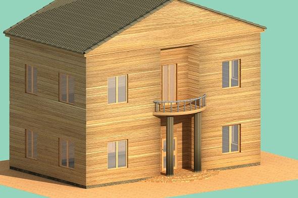 3DOcean Cottage of lumber 20029265