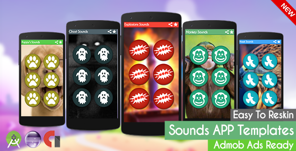 Explosions Sounds ( Sounds App Templates) + Admob (Android Studio + Eclipse)