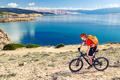 Mountain biking at the seaside bike dirt enduro trail