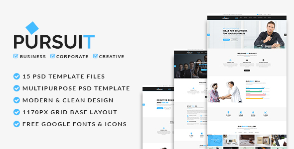Pursuit - Business, Corporate, Creative PSD Template