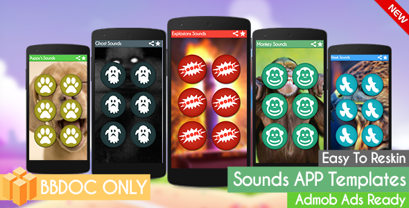 Explosions Sounds ( Sounds App Templates) + Admob  BBDOC ONLY (Buildbox 2.2.8)