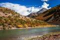 Tibetan river landscape