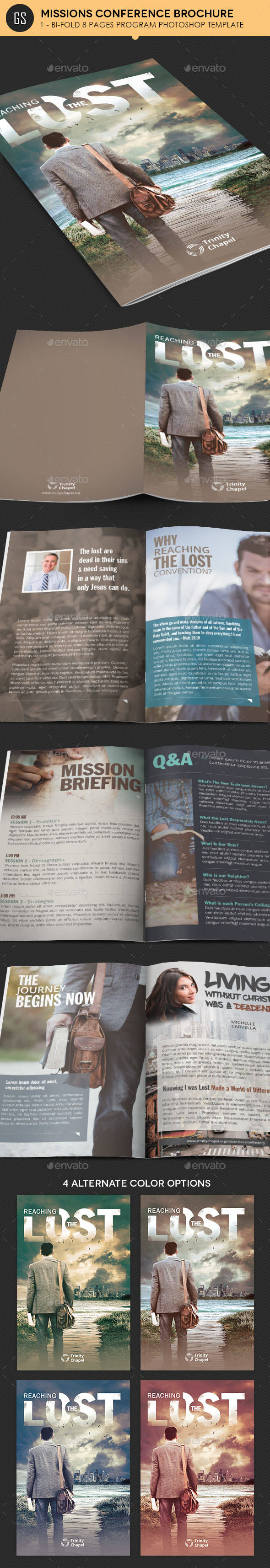 Brochure Templates from GraphicRiver – Conference Brochure Template