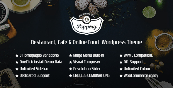 Peppery - Restaurant/Cafe/Food Online WP Theme