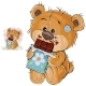 Vector Illustration of a Brown Teddy Bear Sweet