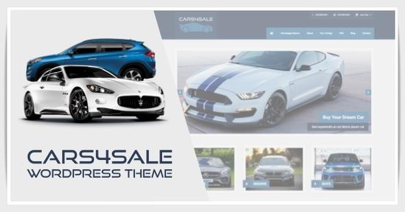Download Cars4Sale - Automotive Car Dealership WordPress Theme