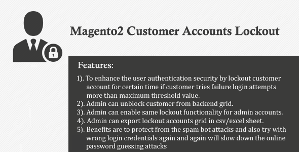 Magento2 Customer Accounts Lockout