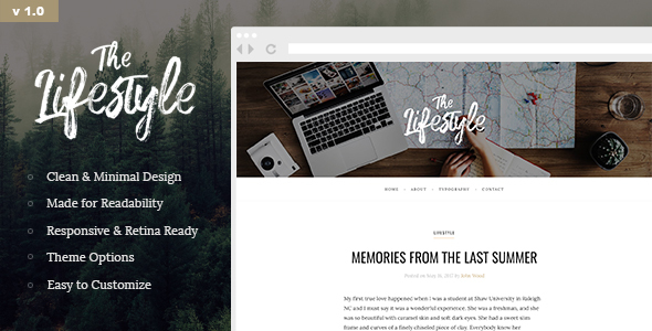 Download The Lifestyle - Elegant and Simple WordPress Blog Theme