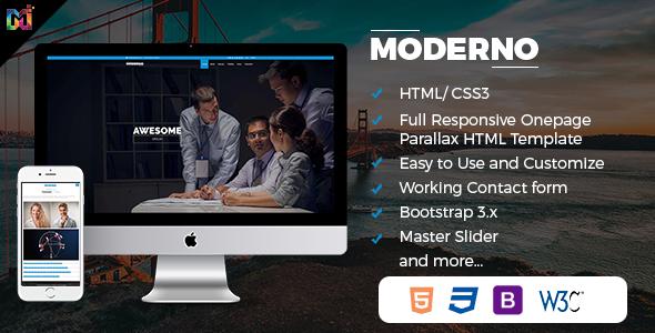 Download Modern - Responsive Multipurpose HTML Template