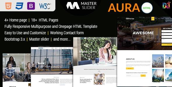 Aura - Responsive Multipurpose HTML5 Template
