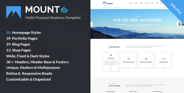 Mount – Multi-purpose Business Drupal 8 Theme