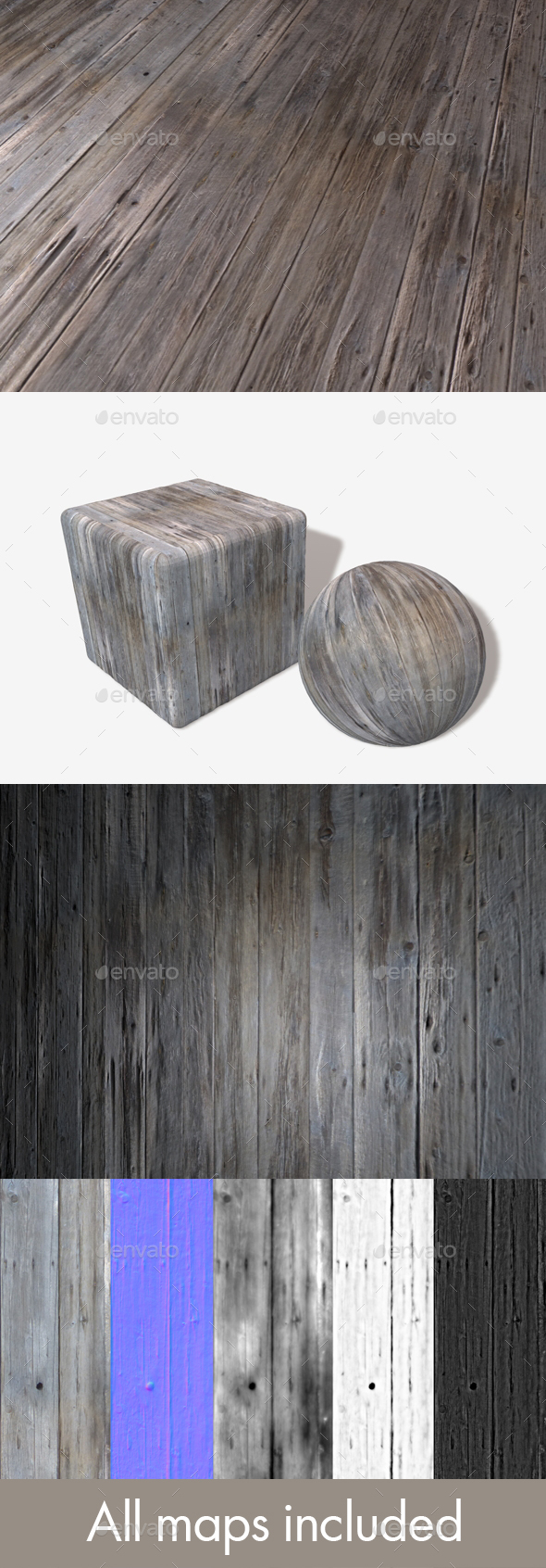 3DOcean Old Wooden Planks Seamless Texture 20032604
