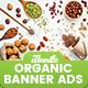 Organic Comestic, Fresh Food Banner Ads