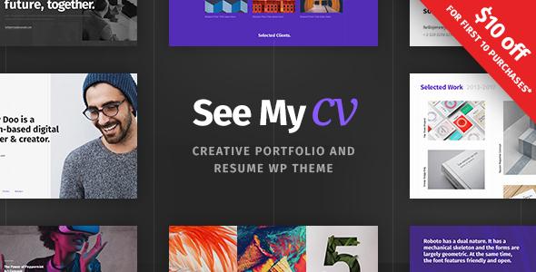 See My CV – Resume &amp vCard WordPress Theme (Portfolio)