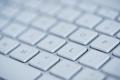 Keyboard of laptop closeup