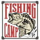 Set of Fishing Label and Design Elements