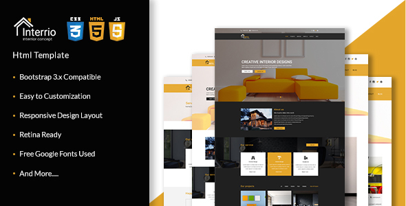 Download Interrio - Corporate Architecture and Interior Design, Responsive Html5 Template