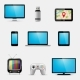 Electronic Devices and Multimedia Gadgets Icons