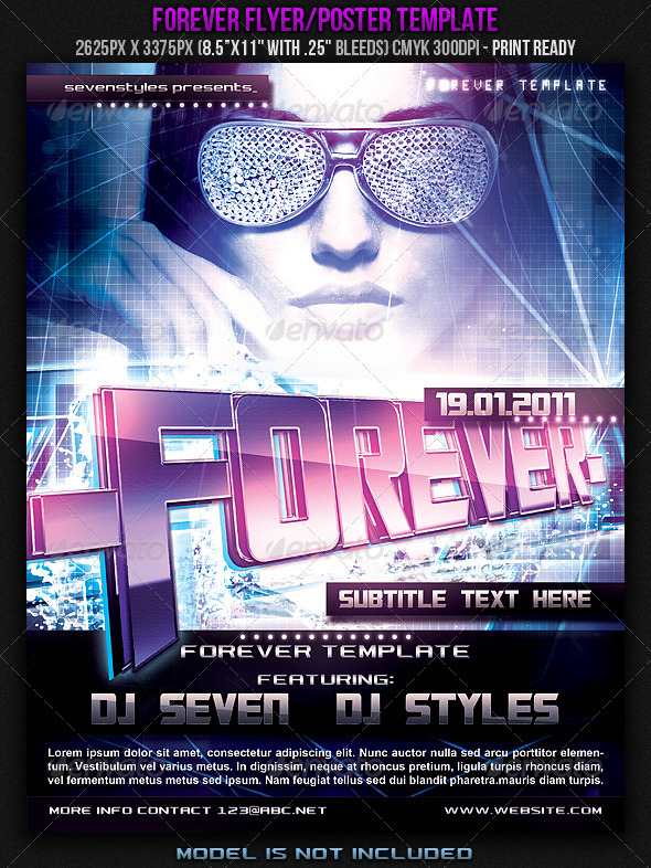 Forever Poster/Flyer Template. - Clubs & Parties Events