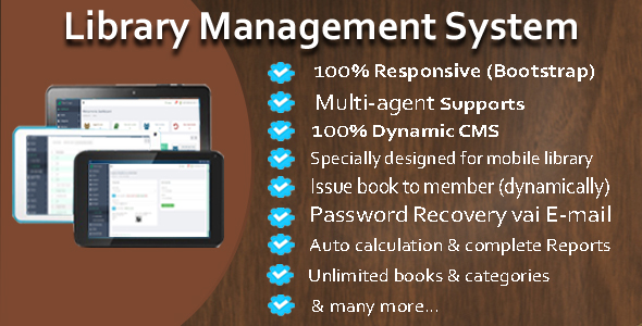 CodeCanyon library management system 20034247