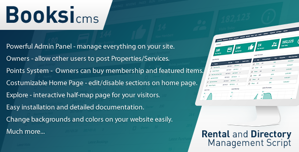 Booksi - Rental & Directory Management CMS