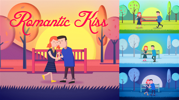 romantic kiss openers special events after effects templates f5