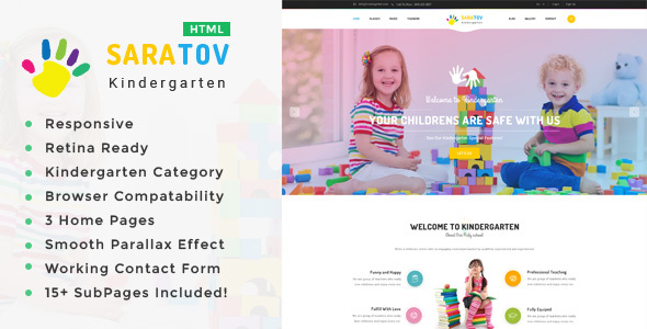 Download Saratov - Kindergarten & School HTML Template