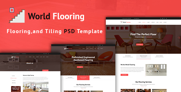 World Flooring - Flooring & Tiles PSD Template