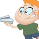 Kid with Paper Plane