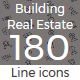 Building and Real Estate line icons