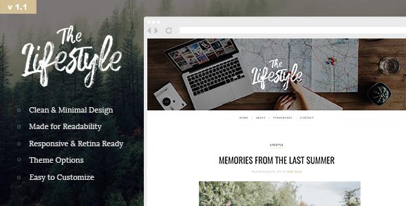 Download The Lifestyle - Elegant and Simple WordPress Blog Theme