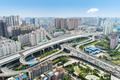 beautiful wuhan city interchange overpass