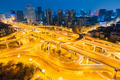city interchange in chengdu at night