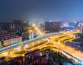beautiful city interchange at night