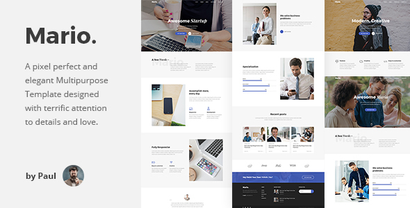 Mario. - Multipurpose HTML Template
