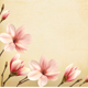 Nature Spring Background with Magnolia Branches