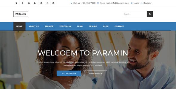 Download Paramin - Responsive Multipurpose Html5 Template