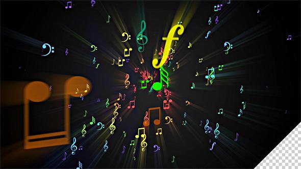 Musical Note Symbols Background