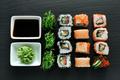 Delicious sushi set