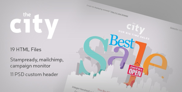 The City - Business email template