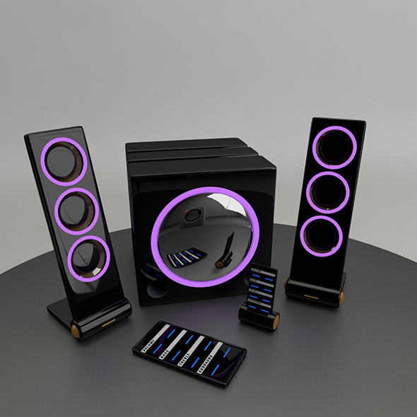 3DOcean Beautiful set of audio system 20041149