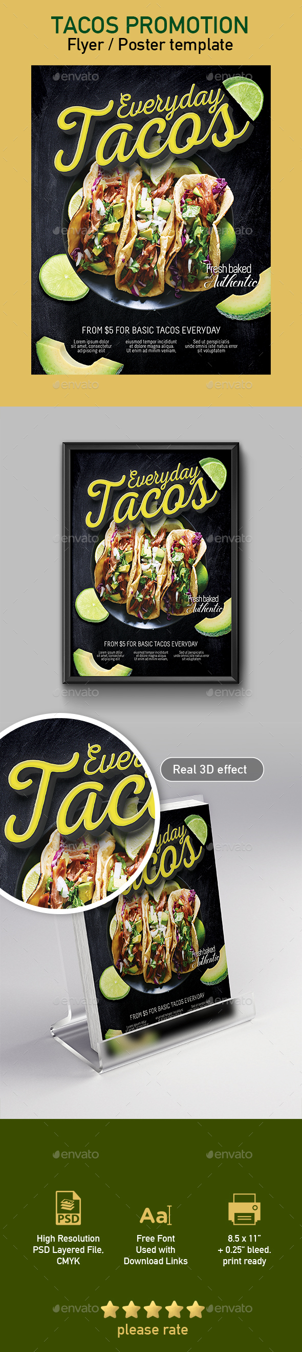 Tacos Flyer / Poster Template
